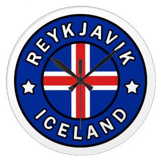 Reykjavik Iceland Large Clock