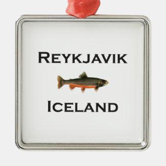 Reykjavik Iceland Metal Ornament