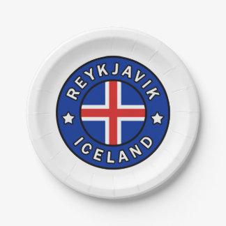 Reykjavik Iceland Paper Plate