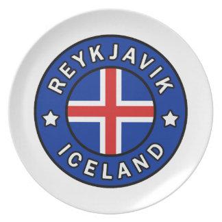 Reykjavik Iceland Plate