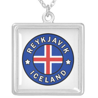 Reykjavik Iceland Silver Plated Necklace