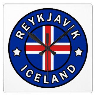 Reykjavik Iceland Square Wall Clock