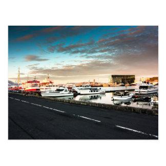 Reykjavik Marina Iceland Postcard
