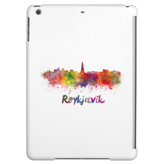 Reykjavik skyline in watercolor iPad air cover