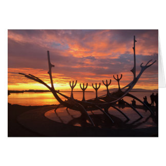 reykjavik sunset notecard #2