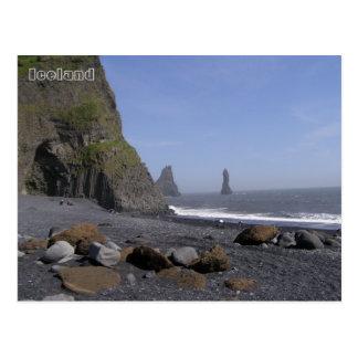 Reynisdrangar, Reynisfjara beach, Iceland Postcard