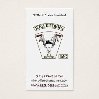 Rez Riders IMC Business Card