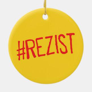 rezist romania political slogan resist protest sym ceramic ornament