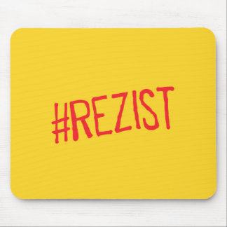 rezist romania political slogan resist protest sym mouse pad