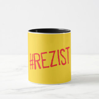 rezist romania political slogan resist protest sym mug