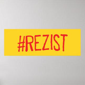 rezist romania political slogan resist protest sym poster