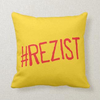 rezist romania political slogan resist protest sym throw pillow