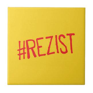 rezist romania political slogan resist protest sym tile