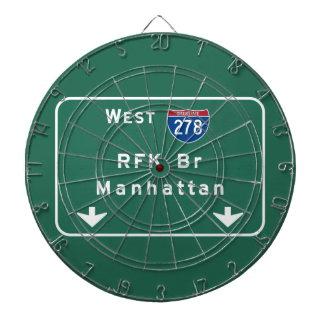 RFK Bridge I-278 Interstate NYC New York City NY Dartboard