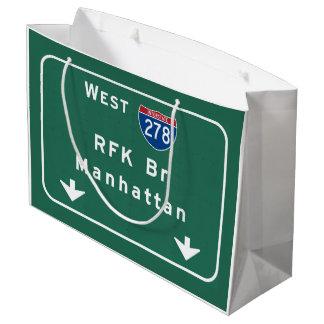 RFK Bridge I-278 Interstate NYC New York City NY Large Gift Bag
