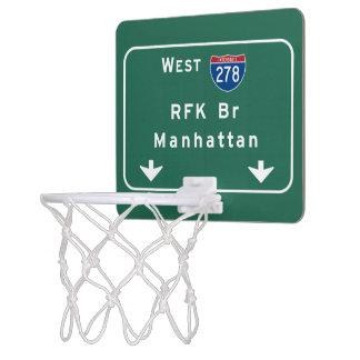 RFK Bridge I-278 Interstate NYC New York City NY Mini Basketball Backboard