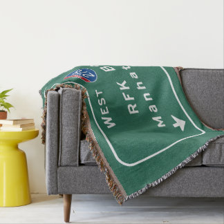 RFK Bridge I-278 Interstate NYC New York City NY Throw Blanket