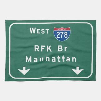RFK Bridge I-278 Interstate NYC New York City NY Towel