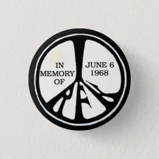 RFK Memorial Peace Pinback 1 Inch Round Button