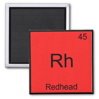Rh - Redhead Funny Chemistry Element Symbol Tee Square Magnet
