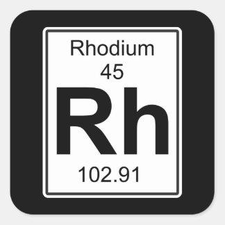 Rh - Rhodium Square Sticker