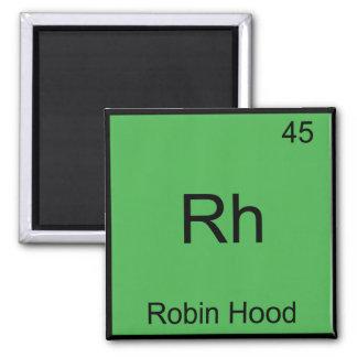 Rh - Robin Hood Funny Chemistry Element Symbol Tee Magnet