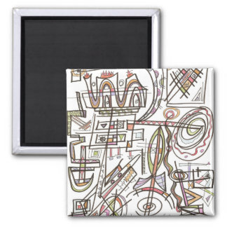 Rhapsody-Abstract Art Geometric Magnet