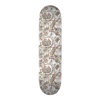 Rhapsody-Abstract Art Geometric Skateboard Decks