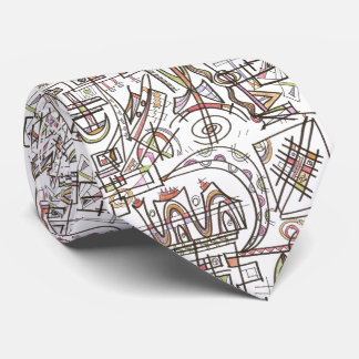 Rhapsody-Abstract Art Geometric Tie