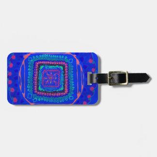 Rhapsody in Blue luggage tag