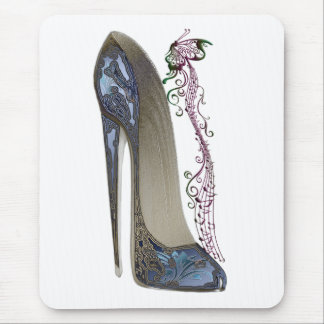 Rhapsody in Blue Stiletto Shoe Art Mouse Pad