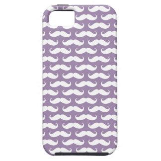 Rhapsody Purple Mustache Patterned iPhone 5 Case