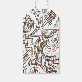 Rhapsody-Whimsical Abstract Geometric Gift Tags