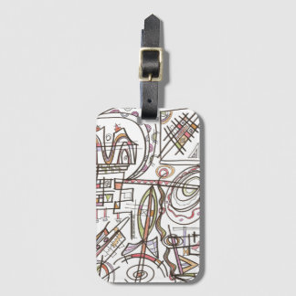 Rhapsody-Whimsical Abstract Geometric Luggage Tag
