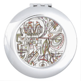 Rhapsody-Whimsical Abstract Geometric Vanity Mirror
