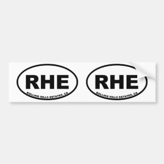 RHE Rolling Hills Estates Bumper Sticker