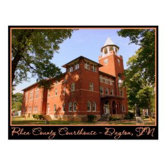 Rhea County Courthouse - Dayton, TN Postcard