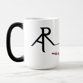 Rhetoric Askew logo morphing coffee mug