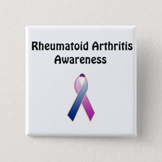 Rheumatoid Arthritis Awareness 2 Inch Square Button
