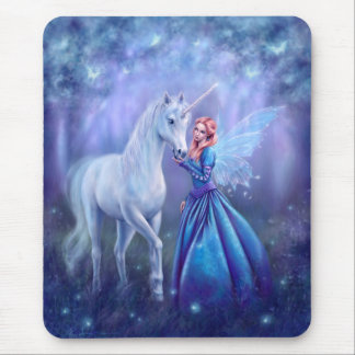 Rhiannon - Unicorn and Butterfly Fairy  Mousepad
