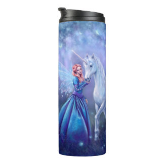 Rhiannon - Unicorn and Butterfly Fairy Thermal Tumbler