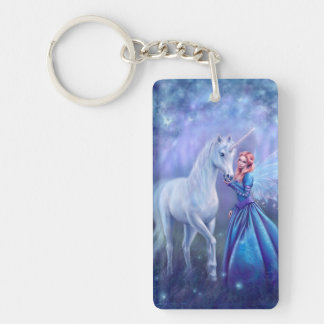 Rhiannon - Unicorn and Fairy Art Keychain
