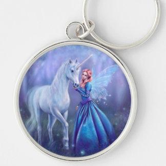 Rhiannon - Unicorn and Fairy Art Premium Keychain