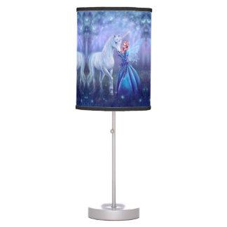 Rhiannon - Unicorn and Fairy Art Table Lamp
