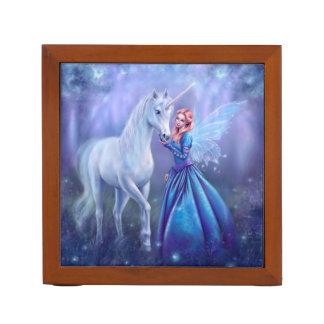Rhiannon - Unicorn and Fairy Desk Organizer