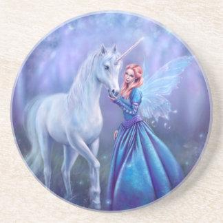 Rhiannon - Unicorn and Fairy Drink Coaster