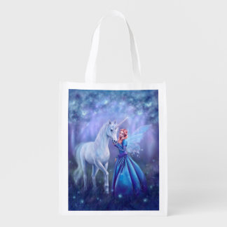 Rhiannon - Unicorn Art Reusable Grocery Bag