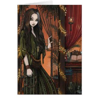 Rhianon Bohemian Coffee Shop Girl Card