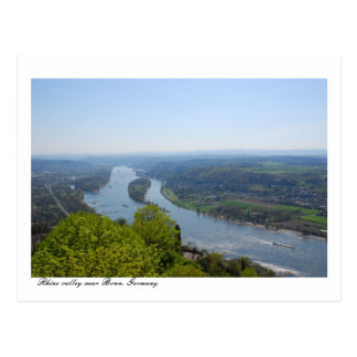 Rhine valley near Bonn, Germany Postcard