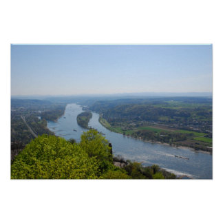 Rhine valley near Bonn Poster